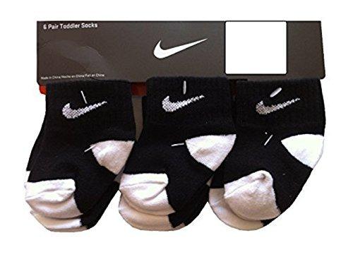 Nike Toddler Baby Socks Black / White 6-12 Months 6 Pair (Nike Infant Socks)