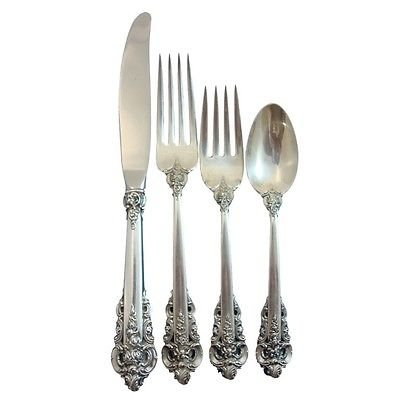 GRANDE BAROQUE BY WALLACE STERLING SILVER REGULAR LUNCHEON 4-PC PLACE SETTING(S)