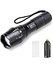 LESNIC LED Tactische Zaklamp, Mini Waterdichte Zaklamp Super Heldere 1000 Lumen Zaklamp, Instelbare Focus, 5 Verlichtingsmodi, Draagbare Militaire Zaklamp Functionele Zaklampen