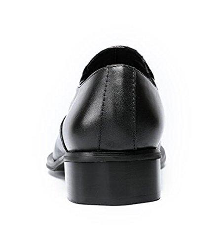 Puntera metal piel de Mocasines hombre de Negocio Formal 38 45 Tamaño nocturno Espectáculo a genuina Zapatos Acento Club irlandés q0zwFWgw