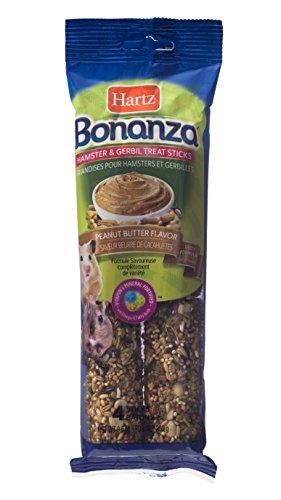 Hartz Bonanza Peanut Butter Hamster & Gerbil Treat Sticks - 4 Pack