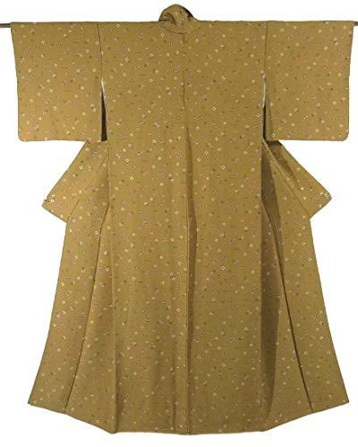 崇拝しますダーリン資格リサイクル 着物 小紋 梅の花 菱や的 正絹 袷 裄63cm 身丈158cm