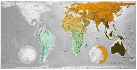 Future Map: World Wall Map - Magnetic Tubed Version 1: An ... on dry erase wall maps, red wall maps, home wall maps, blue wall maps, creative wall maps, magnetic us maps, glass wall maps, vinyl wall maps, wood wall maps, laminated wall maps, electronic wall maps, paris wall maps,