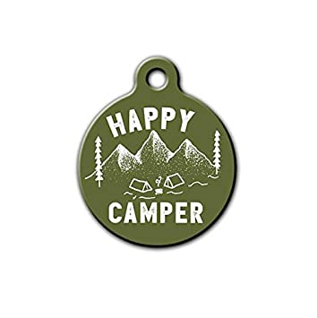 Remarkable Pet Id Tag Happy Camper Pet Tag Camping Dog Tag Outdoor Pet Download Free Architecture Designs Intelgarnamadebymaigaardcom