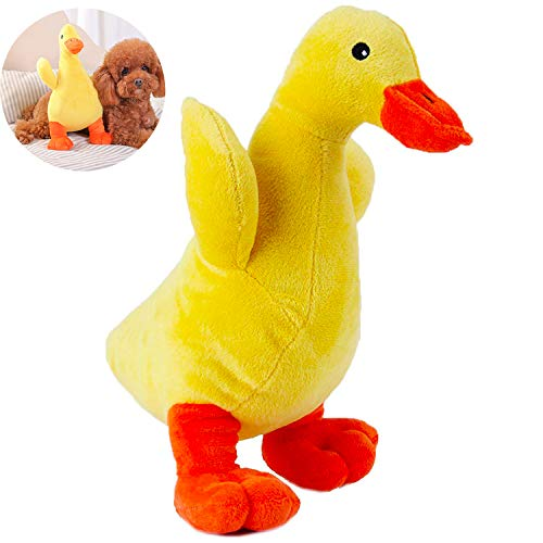Dear Duck (Jomilly Dog Plush Toy, Cuddle Squeaker Ducky for Puppy Cat, Big Yellow Sharp Duck Toy for Small Medium Pets(Avoid Dog Bites))