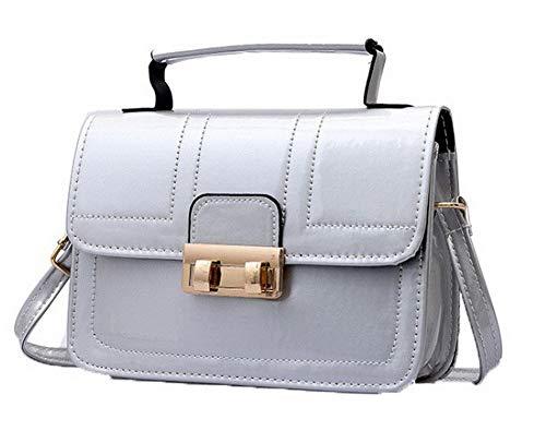 draagtassen Agoolar zilver Dames Gmxba181951 bruin Mode Gekruiste Gesp lakleder tassen Winkelen AHAFq
