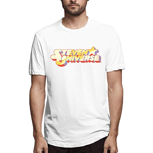 ZestyChef Men's Steven Universe Funny Crew-Neck Short Sleeve T Shirts for Men White]()