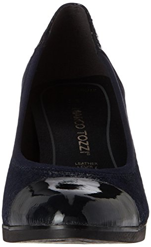 Comb Zapatos Str Azul Mujer de 22447 Navy Premio Tacón para Tozzi Marco twB7PP