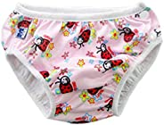 Stylish Reusable Washable Swim Diapers Swimming Nappies for Unisex Babies 2-3 Years Old(Pink)