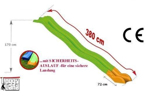 Hangrutsche Wellenrutsche 3,80m