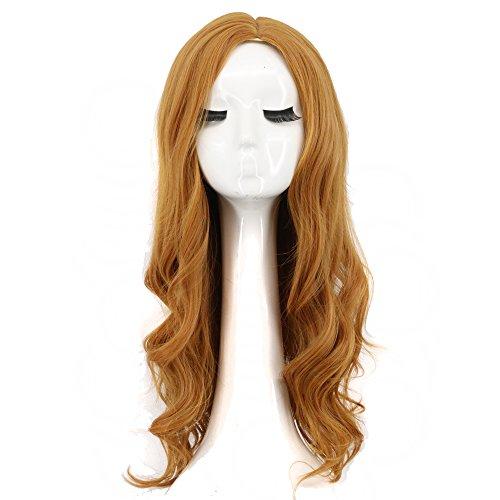 Yuehong Women Long Brown Fashion Wavy Cosplay Wig Cos Wig Anime -