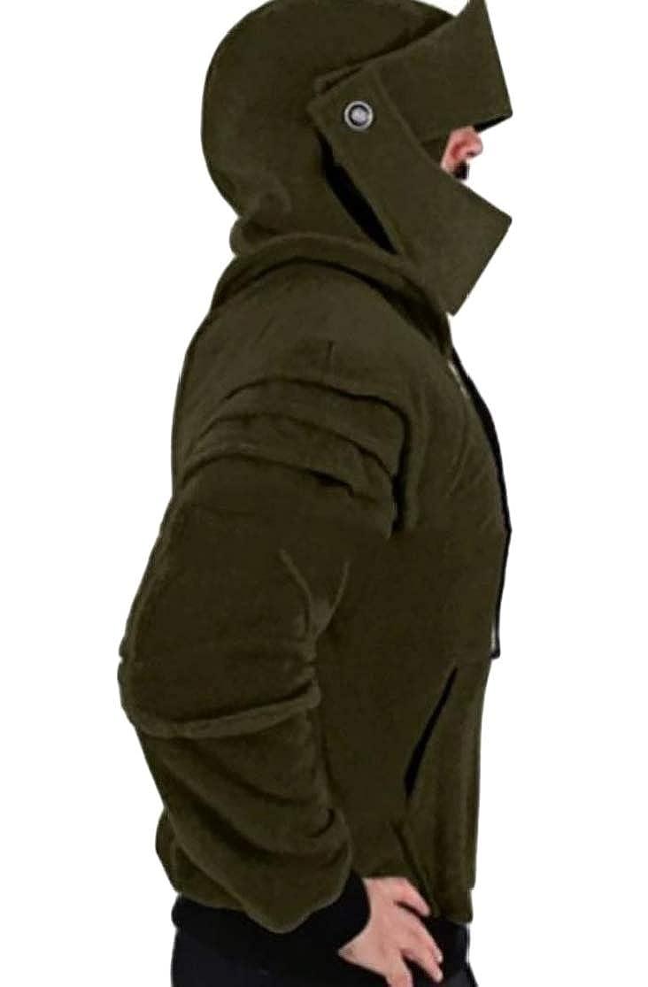 Joe Wenko Mens Armor Hoodie Pullover Knight Mask Tops Sweatshirts
