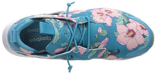 Reebok Femmes Furylite Fg Mode Sneaker Floral / Vol Bleu / Rebel Berry