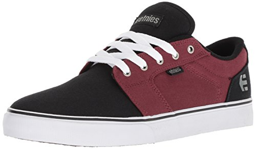 - Etnies Men's Barge LS Skate Shoe, Black/White/Burgundy, 11 Medium US