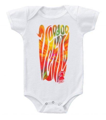 Kiditude Jimi Hendrix Voodoo Child Onesie Baby Bodysuit Romper, White (18 Months) Jimi Hendrix Cotton Onesie