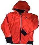 Jordan Nike Boys' Therma-Fit Fleece Full Zip Jacket Infared (XL)