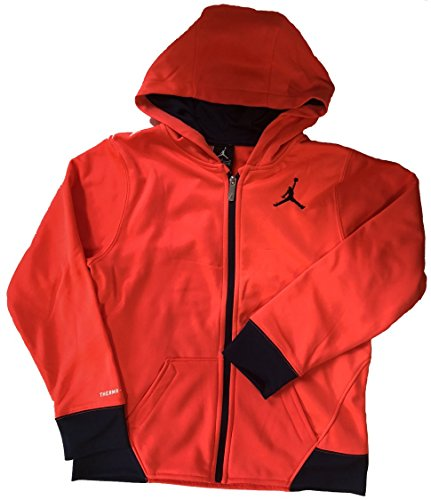 Jordan Nike Boys' Therma-Fit Fleece Full Zip Jacket Infared (M)