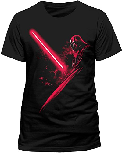 CID Herren T-Shirt STAR WARS - VADER SHADOW, Gr. Small, Schwarz