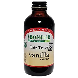 Frontier Vanilla Extract Fair Trade Certified & Organic, 4-Ounce Bottles (Pack of 3)