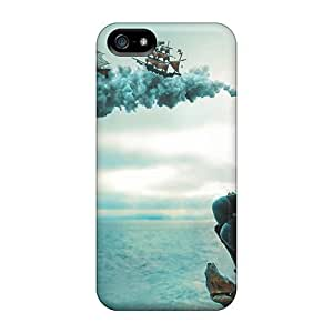 USMONON Phone cases Case For Iphone Iphone 5 5s With Nice Girl Ships Illusion Appearance