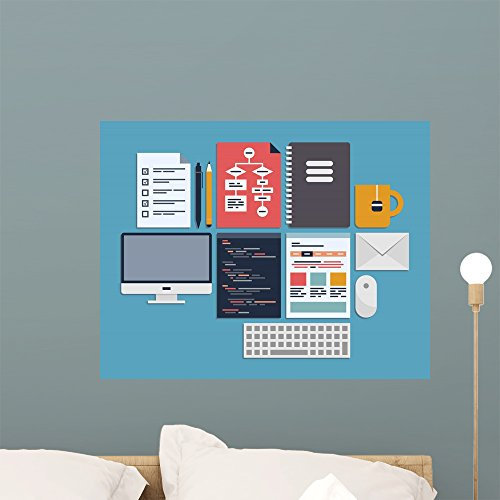 Wallmonkeys Website Programming Management Wall Decal Peel and Stick Graphic WM106971 (24 in W x 19 in H)