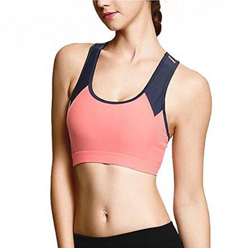 Sostén deportivo yoga de alta calidad fitness transpirable sujetador de lucha color material de nylon