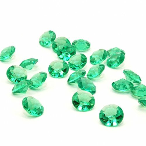 8.0mm 2 Ct 1000 Pcs Emerald Wedding Party Diamond Confetti Table Scatters Decoration Good Crafted DIY Ideas by Beadyandcrafty