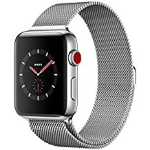 Apple watch series 3 Stainless steel case 42mm GPS + Cellular GSM unlocked (Stainless Steel Case with Milanese Loop)