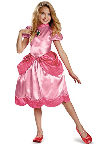 Nintendo Super Mario Brothers Princess Peach Classic Girls Costume, X-Small/3T-4T