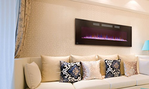 Napoleon EFL50H Linear Wall Mount Electric Fireplace 50 Inch Wall Mount Electric Fireplace