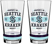 NHL Seattle Kraken Property of Mixing Glass, 2-Pack