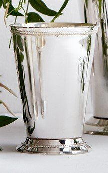 Serene Spaces Living Classic Silver Plated Julep Cup, Measures 3.25'' Diameter and 4.5'' Tall