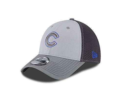 MLB Chicago Cubs Grayed Out NEO 39Thirty Stretch Fit Cap, Large/X-Large, Graphite