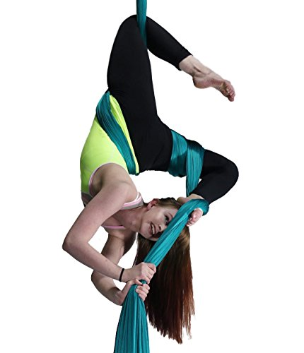 F.Life Aerial Silks For Aerial yoga Hommock Or Aerial Acrobatics (10 yards) with the Equipment ,Guide
