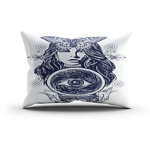Moladika Throw Pillow Cover 12x24 Inch Lumbar Magic