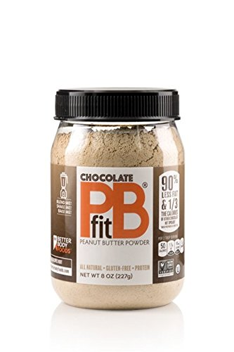 Chocolate PBfit — All-Natural Chocolate Peanut Butter Powder, Produced by BetterBody Foods, 8 Ounce