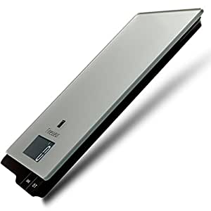Finesseur Precision Digital Food Scale for Kitchen Silver Tempered Glass