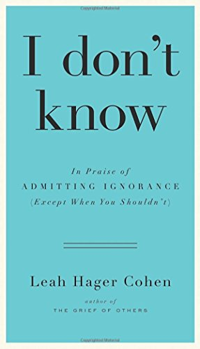 book cover of I Don\'t Know