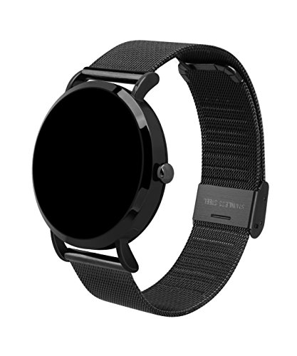 Hangang Fitness Tracker, Custom Activity Tracker with Heart Rate Monitor, Multiple Sport Modes Smart Watch Men, Women (Steel-Black) by Hangang (Image #3)