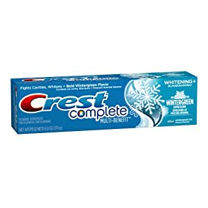 Crest Complete Whitening Plus Wintergreen Expressions Toothpaste 6 Oz (Pack of 6)
