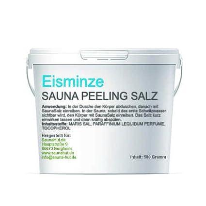 Premium Saunasalz (Salzö l) 500 Gramm Meersalz Peeling mit Ö L | Peeling Salz | Duschsalz | Sauna Salz Peeling | (Lemongras) Saunahut.de