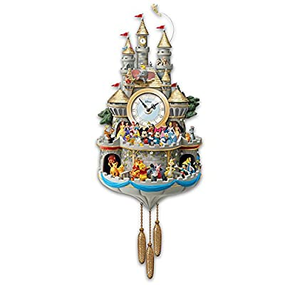 Disney Cuckoo Clock Has 43 Characters Lights Music And Motion by The Bradford Exchange by Bradford Exchange