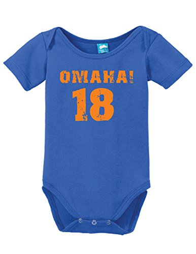 Sod Uniforms Omaha 18 Printed Infant Bodysuit Baby Romper White 0-3 Month