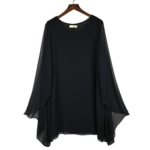 OS7jdhD85 Fancy S - 4XL 5XL 6XL Plus size women dress,batwing sleeve shawl casual chiffon dress,vestidos femininos,blusas femininas girl dress (Plus Size 90s Fancy Dress)