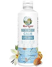 Magnesium Calm Liposomal by MaryRuth's (Almond Vanilla)   Vegan Magnesium Bisglycinate + Vitamin E   Stress Relief Bone Health Cognitive Support for Men & Women   Gluten Free, Non-GMO, No Added Sugar