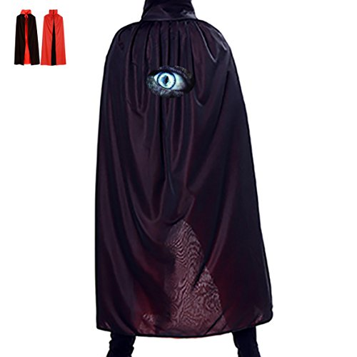 a Wolf Eye Halloween Magical Cape Wizard Death Adult Vampire Cloak - Wolf Costume Eye Makeup