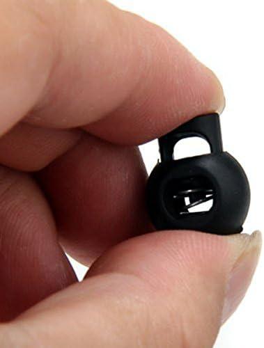 Black ULTNICE Plastic Toggle DIY Spring Cord Lock Fastener Locks End 100PCS