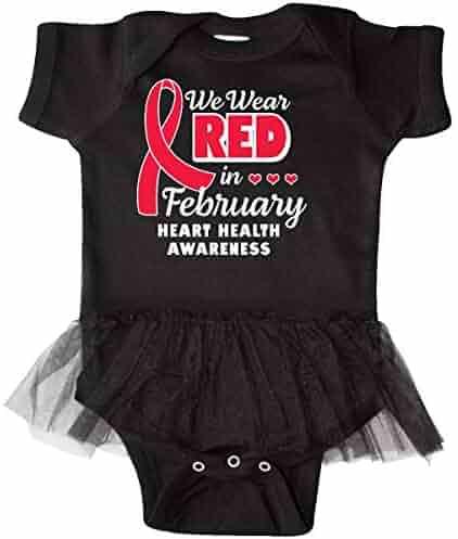 inktastic Heart HeaIth Awareness I Wear Red for My Gigi Long Sleeve Creeper