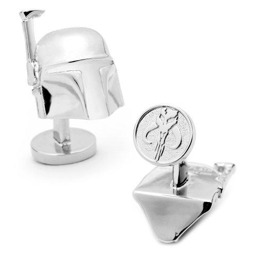 Star Wars Palladium 3-D Boba Fett Helmet Cufflinks Novelty 1 x 1in