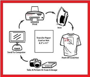 T-shirt Inkjet Iron on Transfer Paper 50 Pack